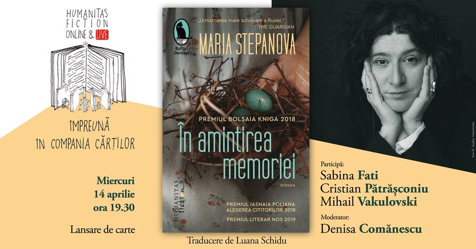 """Lansare de carte: Maria Stepanova – """"În amintirea memoriei"""""""